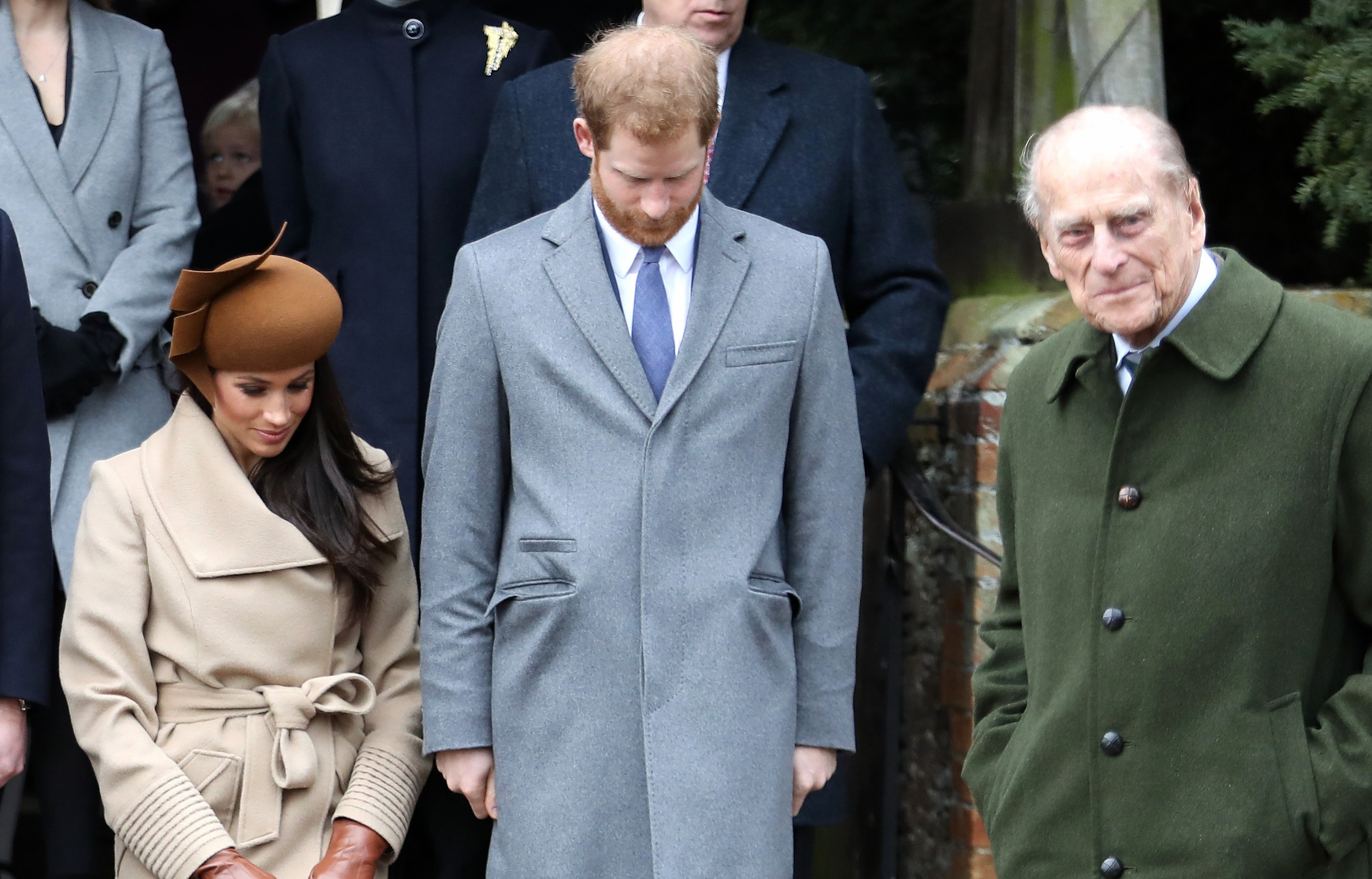 Prince Philip, Prince Harry and Megan Markle (Photo: Getty Images)