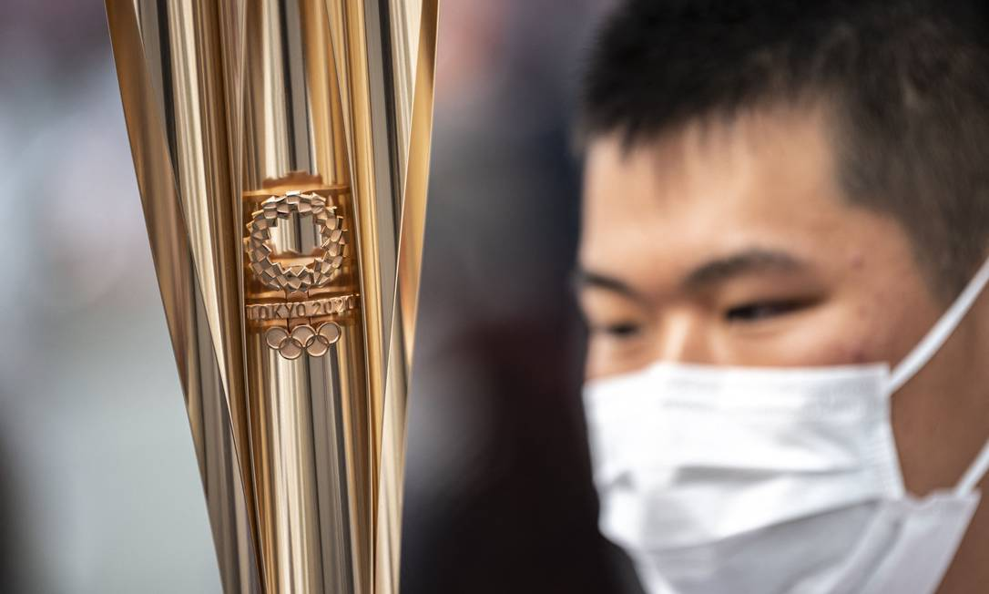 Predictions by the International Olympic Committee (IOC) indicate that the torch will pass throughout Tokyo Prefecture.Photo: Charlie Triballio / AFP