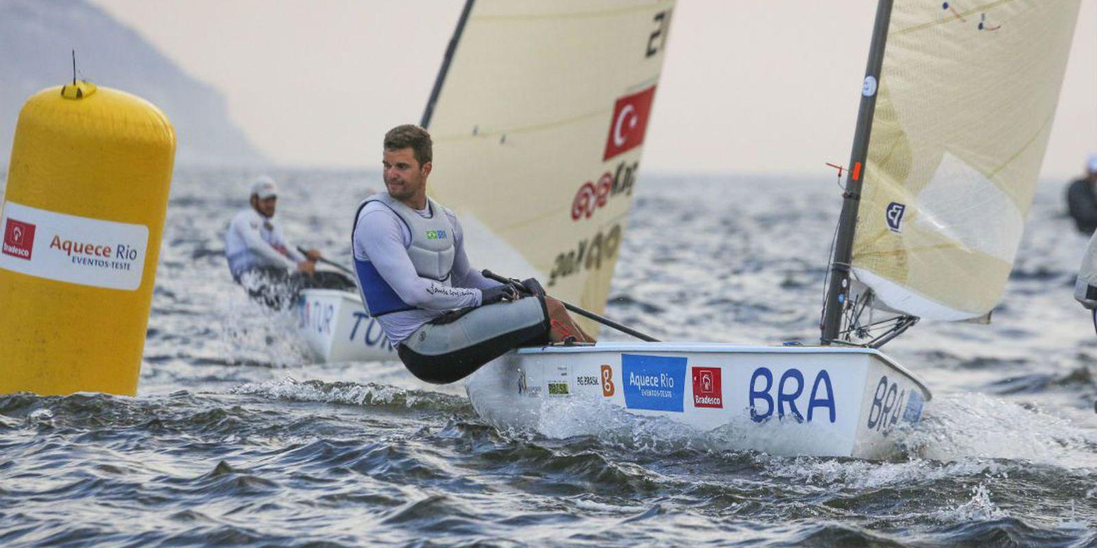 Sailor Jorge Zarif entered the top 10 European Championships in Portugal