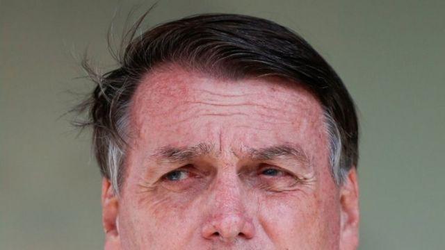 The face of Jair Bolsonaro