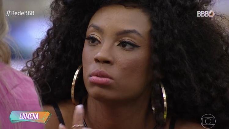 BBB 21: Lumina apologizes to Carla Diaz - clone / Globoplay - clone / Globoplay