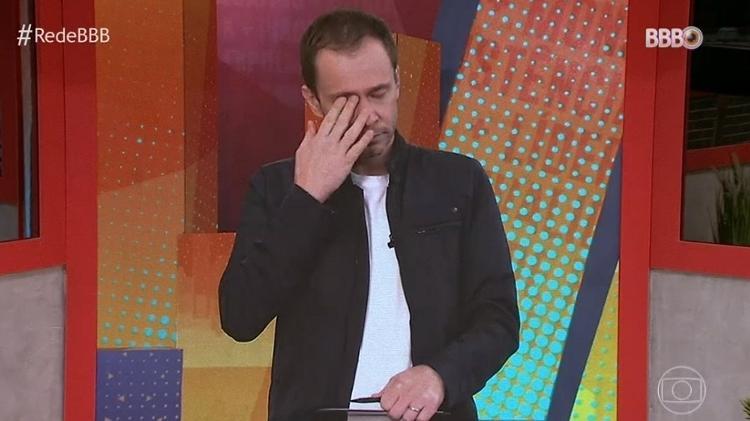 BBB 21: Thiago Leverett cries on BBB Day 101 - Cloning / TV Globo - Cloning / TV Globo