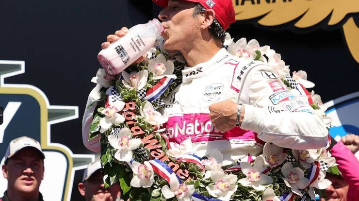 Castroneves finishes at a speed of 8 years and takes his eighth Brazilian victory in the Indy 500