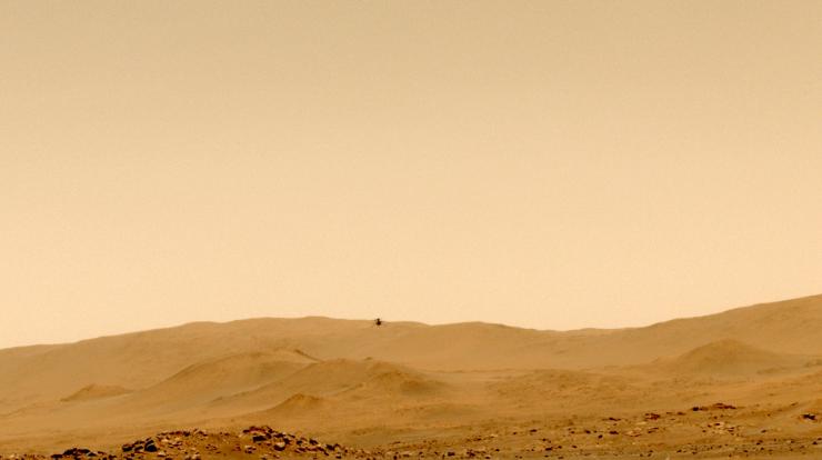 Helicóptero da Nasa Ingenuity fez seu quinto voo com sucesso em Marte
