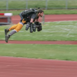 British man beats Bolt's 100m mark in jet suit