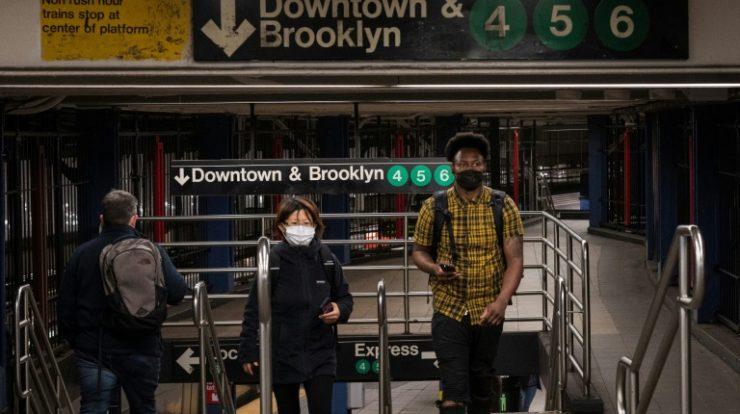 Estação de metrô em Manhattan, cidade de Nova York