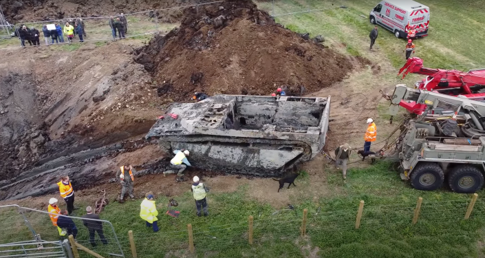 They are found in a UK tank of World War II buried under 74 years old (video)