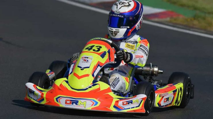 Young Rodrigo Zebra is already offering cards in karting in the UK