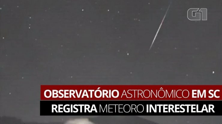 An interstellar meteorite recorded by the camera of the Astronomical Observatory in Santa Catarina    Santa Catarina