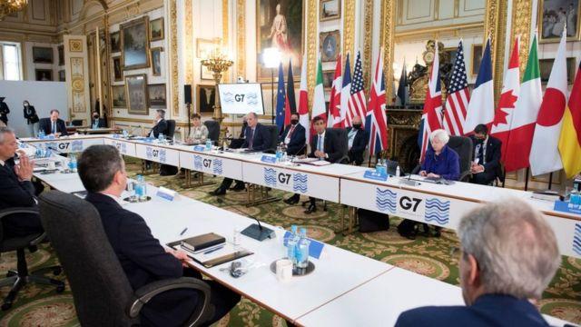 G7 meeting in London.