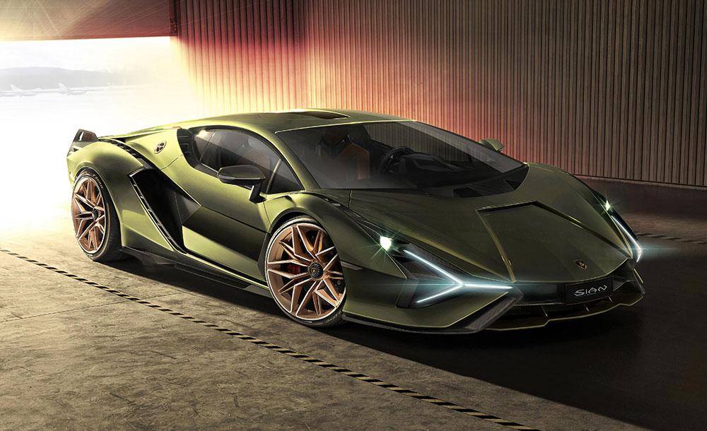 Lamborghini Sian is the brand's first lightweight hybrid car
