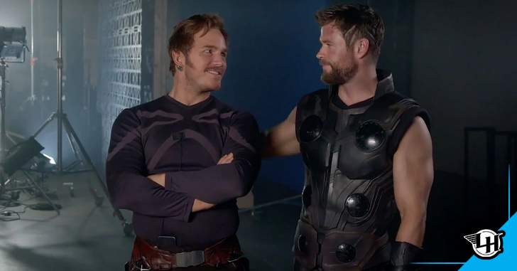 The photo shows more Chris Hemsworth and Chris Pratt in their new outfits