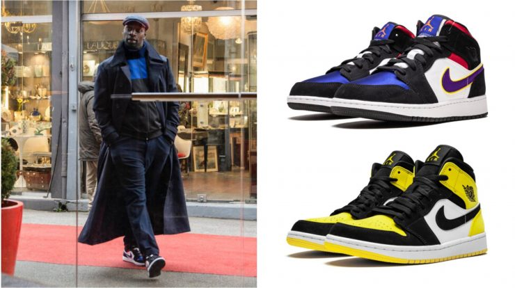 All the Air Jordan 1 shoes Omar C wears in LUPINE on Netflix