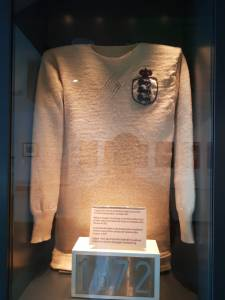 1872 England shirt in the Manchester Football Museum