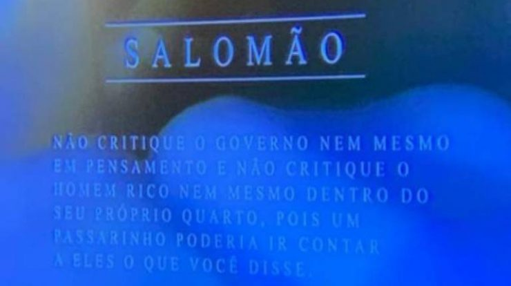 SBT Broadcasts An Excerpt From The Bible Says Not To Criticize The Government Even In Thought - 06/12/2021 - Billboard