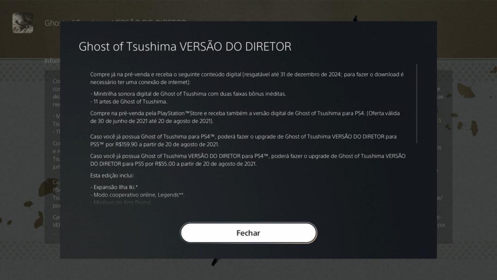 Director's Ghost version Tsushima