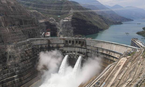 The Bayitan hydroelectric power station is 289 meters high and is the largest since the Three Gorges Photo: - / AFP