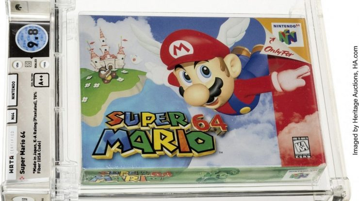 'Super Mario' cartridge sells for $1.56 million, a record for video games    Toys