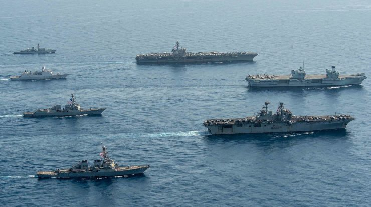 United Kingdom, Netherlands and US navies conduct joint naval exercise in Gulf of Aden - Navy