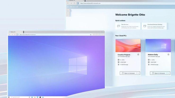 Imagem de: Microsoft anuncia Windows 365 com PCs na nuvem até no Android