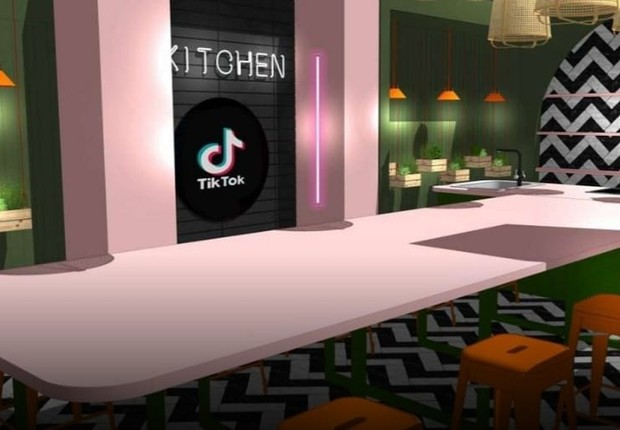 The kitchen space revealed by the company (Image: clone/TikTok)