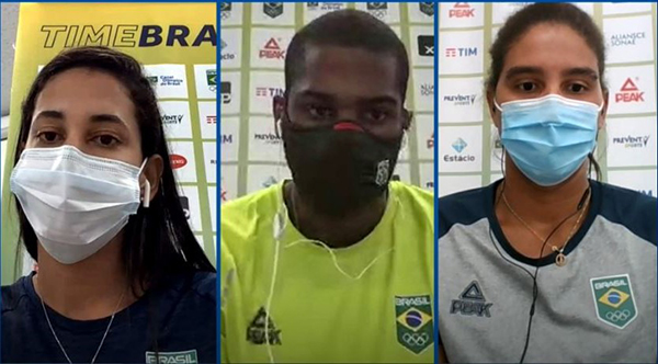 Ana Patricia, Duda and Evandro comment on beach volleyball predictions for the Olympics