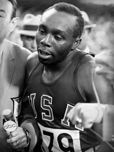 American sprinter Jim Hines ran the world's first under-10 100-meter race in 1968