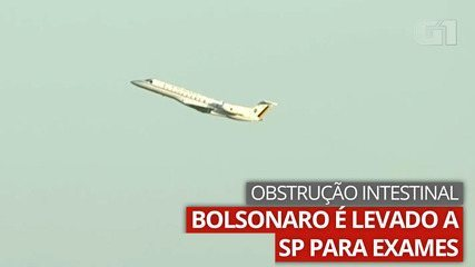 Video: Bolsanaro is taken to SP due to intestinal obstruction