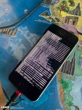 The developers also posted an image of an iPhone carrying the new operating system.