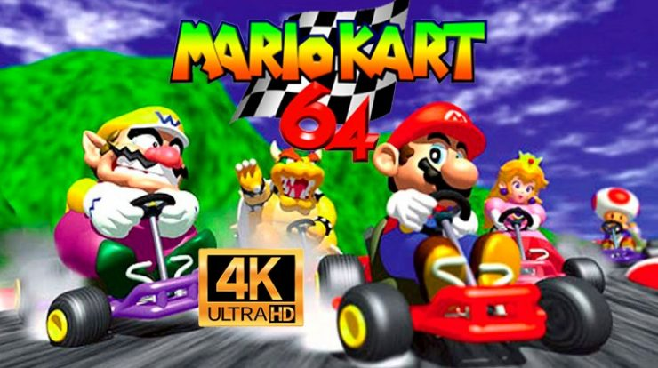 Mario Kart 64 in 4K!  F mods and creates an enhanced version of the game with improved graphics and 60 frames per second