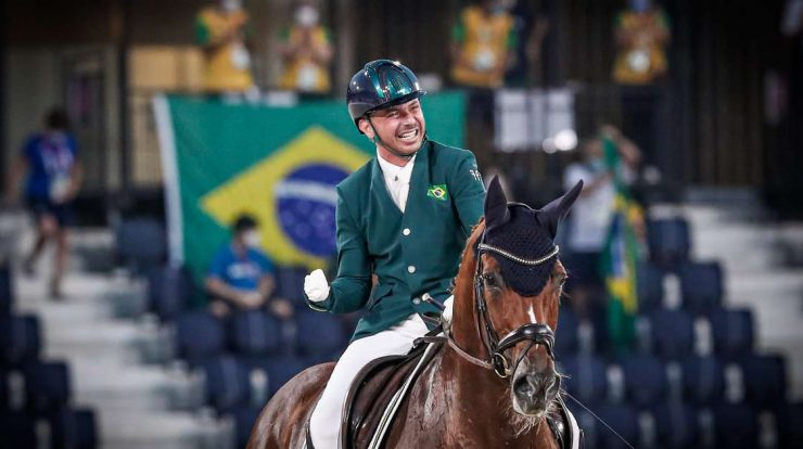 Brazil has 4 podiums, but drops to 10th in the medal table