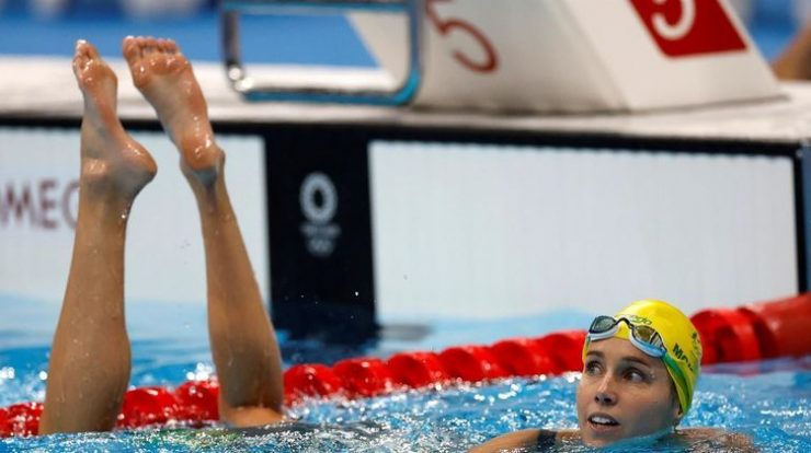 Australian swimmer sets record with seven Olympic medals