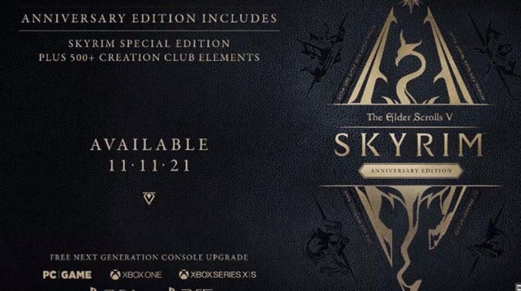 Imagem de: Skyrim Anniversary Edition é anunciado e chega em novembro