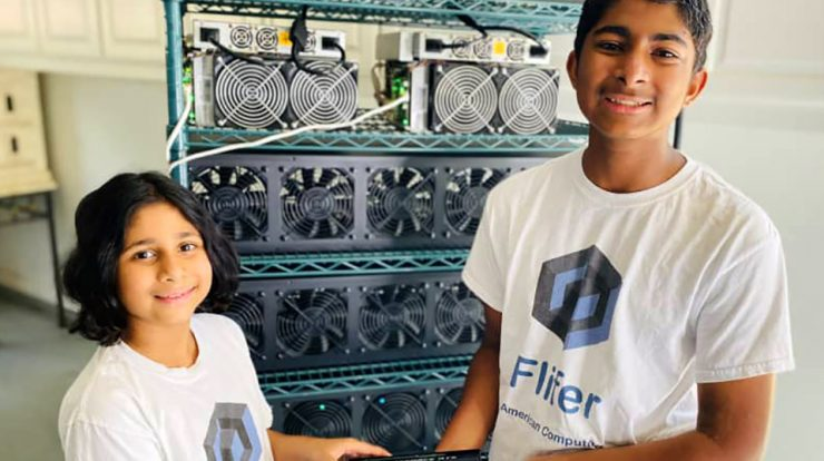 The 14- and 9-year-old siblings earn $30,000 per month in cryptocurrency