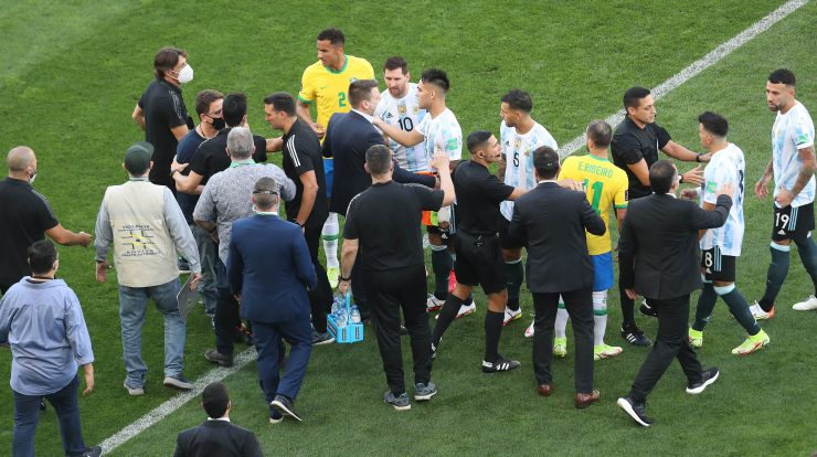 The FIFA president said the suspension of the match between Brazil and Argentina was insane