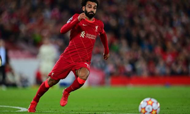 Fifth - Mohamed Salah from Liverpool.  $41 million - R$216, R$6 million Photo: Paul Ellis/AFP