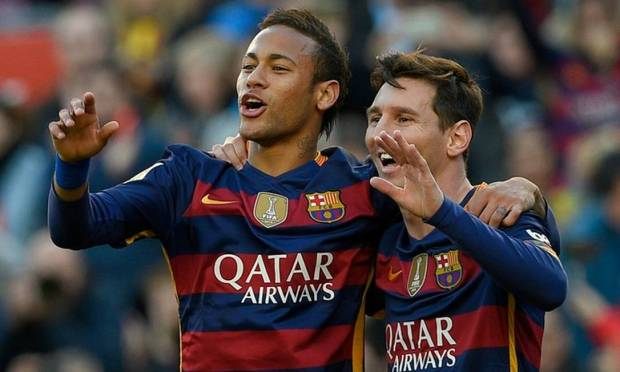 Double at Camp Nou, then both at home, during a match against Valencia, for the Copa del Rey, 2016 Photo: LUIS GENE / AFP