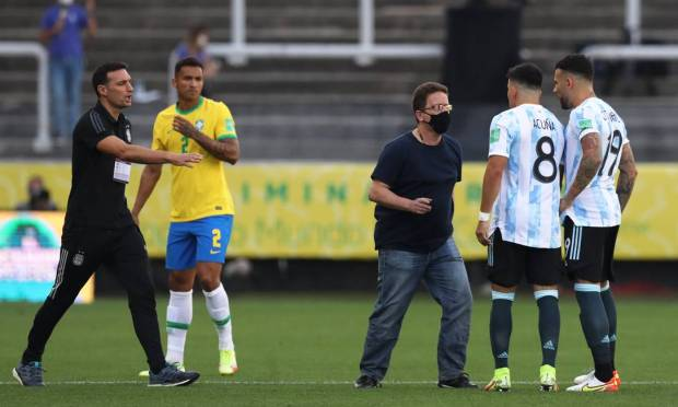 Anvisa agents argue that four players from Argentina cannot play any activity in Brazil prior to being quarantined as they previously were in the UK. Photo: Amanda Perubelli/Reuters.
