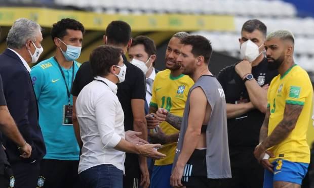 According to Anvisa, four Argentine players who passed through the UK gave false information when entering Brazil.  Photo: Amanda Perubelli/Reuters.
