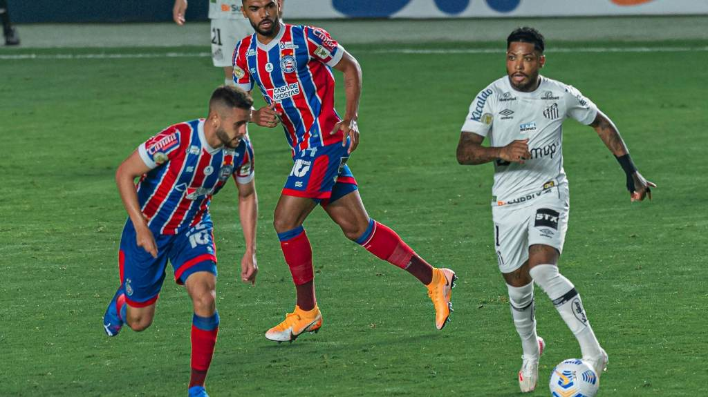 Santos and Bahia tied 0-0 at Villa Belmiro