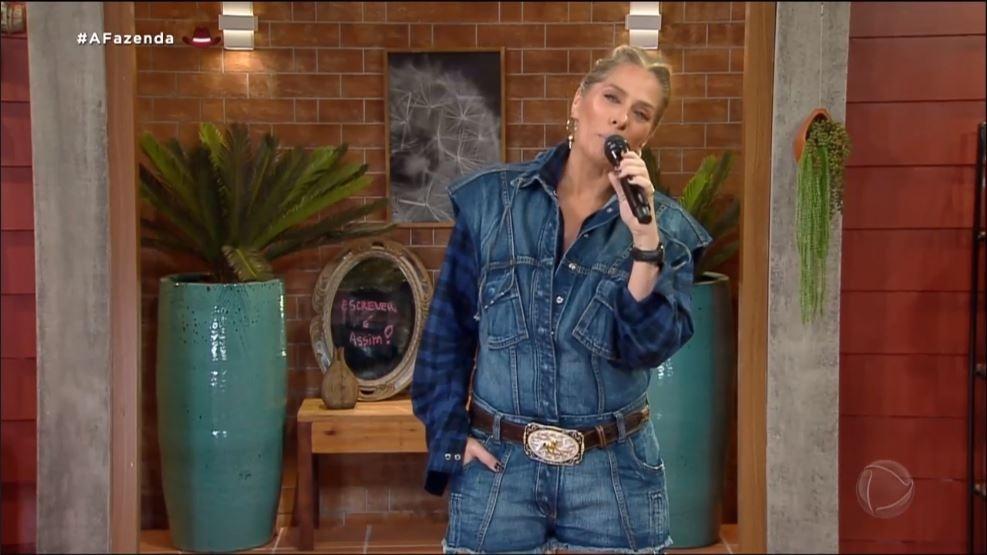 A Fazenda 2021: Adriane Galisteu on Sunday's taped show - clone / Record TV