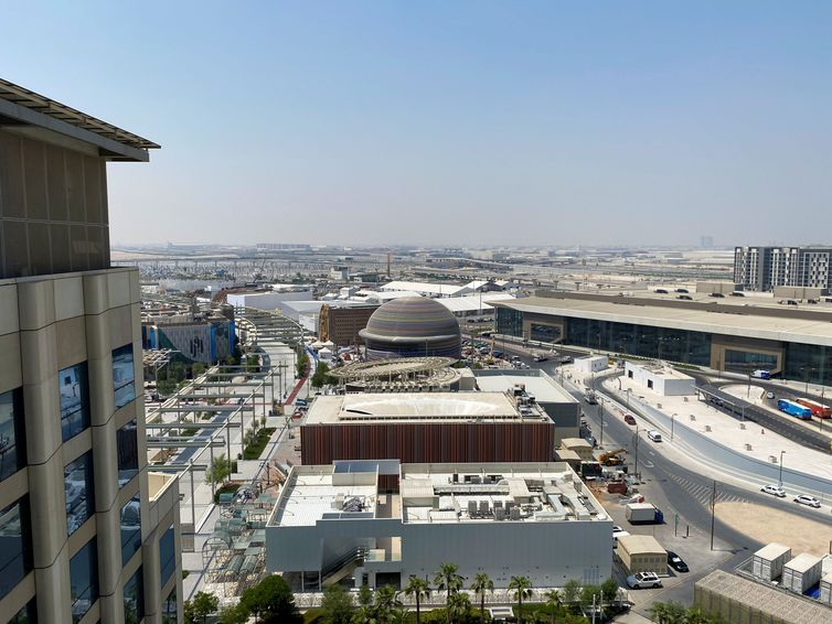 A general view of the Expo 2020 Dubai site in Dubai