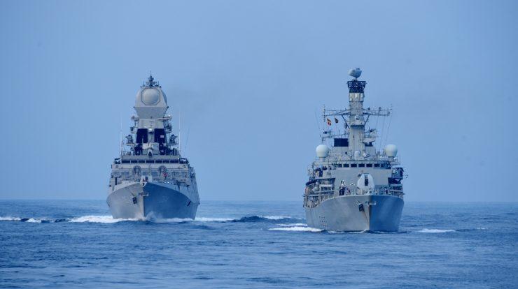 The United Kingdom and India are conducting 'Konkan Shakti 2021' - Naval Power Training