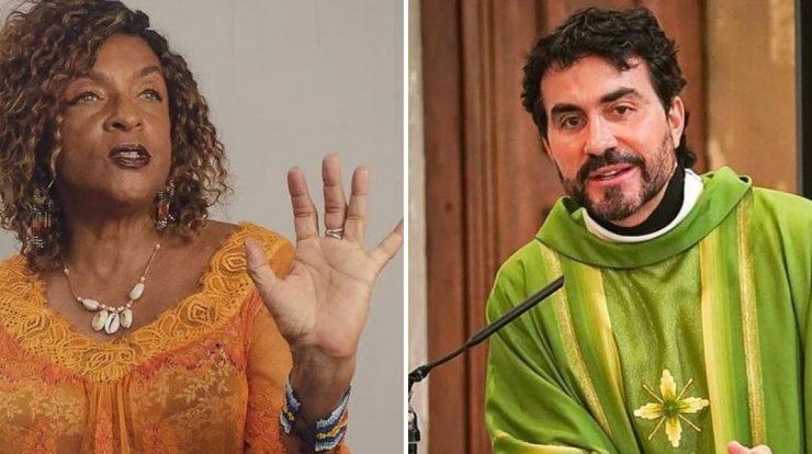Elisa Lucinda e padre Fábio de Melo