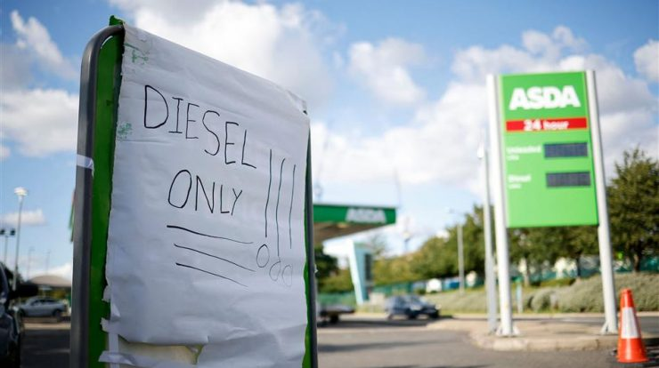 United Kingdom.  Fuel supply begins to be done by the military